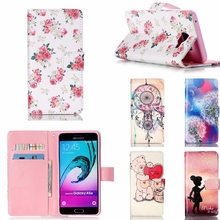 New! Painting PU Leather Case For Samsung Galaxy A5 2016 A510 A5+ A510F A5100 Case Campanula Flip Wallet Stand Phone Bag Cover