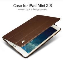 Jisoncase PU Leather Smart Case for iPad Mini 2 and for iPad Mini 3 Auto Sleep Wake up Stand Anti-knock Luxury Covers & Cases(China (Mainland))