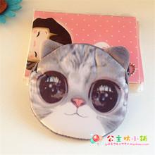 Fashion ladies coin purses women plush 3D Animal Face wallet female cute small card bag children