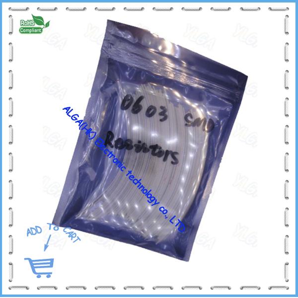 0603 SMD Resistors 10R-910 1% 1/16W80valuesX50pcs=4000603 Assorted Kit Sample bag - ALGA(HK store Electronic technology co., LTD)