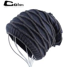 striped winter hat women