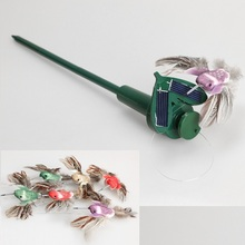 Free Shipping Solar Powered Flying Fluttering Hummingbird Flying Birds Gift Educational Toys Hot New(China (Mainland))