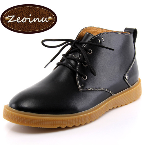 ZEOINU Ankle Boots Men , Mens Plus size Brand Genuine leather cowboy motorcycle lita boots footwear Size 38 -47 DF-5626 - Store store
