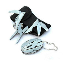 High Quality Portable Multi Function Folding Pocket Tools Plier Knife Keychain Screwdriver
