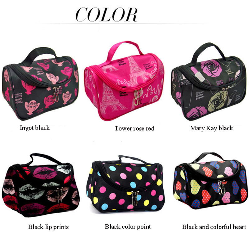 Fashion Women Lips Cosmetic Bag Large Travel High Quality Lady Makeup Bag Toiletry Bag Organizer Makeup Cases Trousse Maquillage