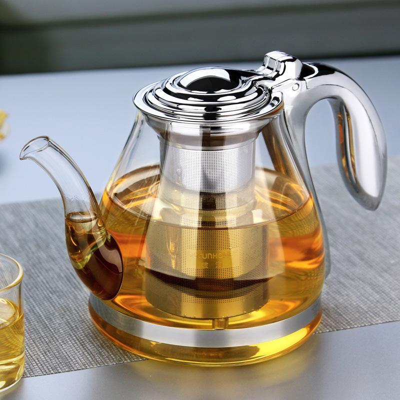 free shipping BORUN large capacity tea pot elegant cup glass tea set glass teapot(China (Mainland))
