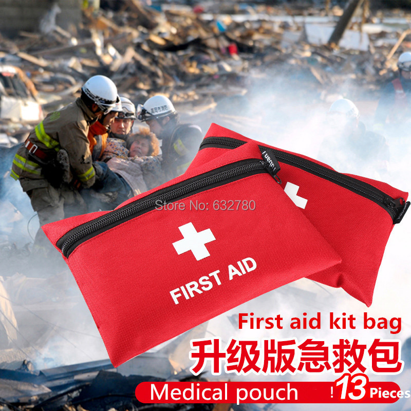 Medical pouch Travel Camping Medical Emergency First Aid Kit Survival Bag Treatment Pack Set car emergency kit(China (Mainland))