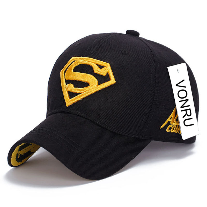 2016 Brand Superman Polo Snapback Cap Mens Golf Baseball Caps Women Fitted Adjustable Hat Gorras Planas Casquette Chapeau M0693(China (Mainland))