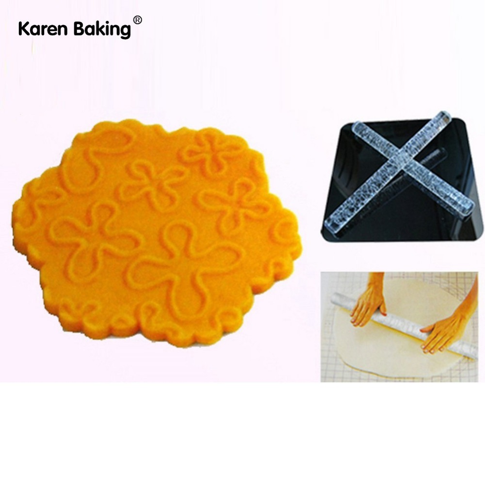 Many Flower Embossing Rolling Pins Sugar Craft tools Fondant Cake Decoration--A176(China (Mainland))