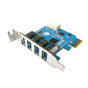 Super Speed Low Profile Half Height 4 Ports USB 3.0 PCI E Express Interface Card(China (Mainland))