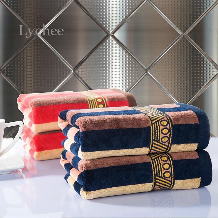 1 piece Sports Hand Towel Cotton Square 34*76cm Soft Egypt Pattern Face Towel Bath Towel Home Textile(China (Mainland))