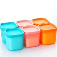 1 Pcs Plastic Storage Jars Lids Spice Sauce Seasoning Box Condiments Pepper Jar Container Kitchen Accessories(China (Mainland))