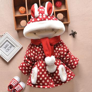 2 шт. детская одежда и шарф ребенка зимой верхняя одежда утолщение девочку куртки ватные капюшоном плащ хлопок clothesack