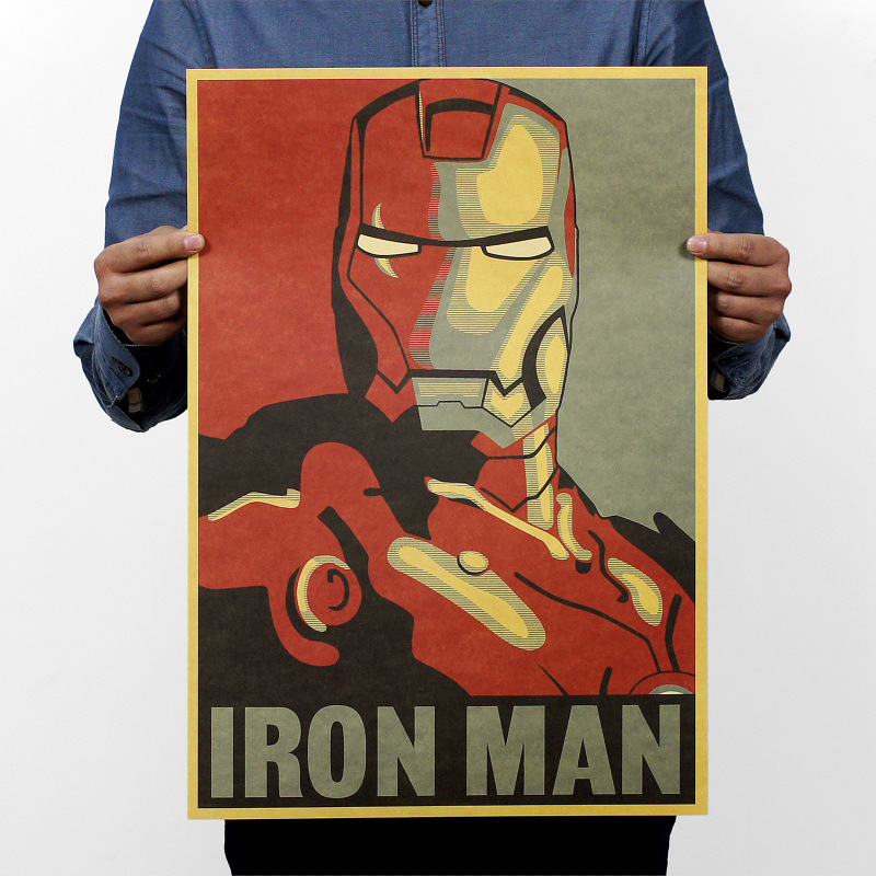 Iron Man Comic Avatar Poster / Rock Poster / Kraft Paper Bar Decorative Painting 51x35cm /150g Retro Paper/ High Quality(China (Mainland))