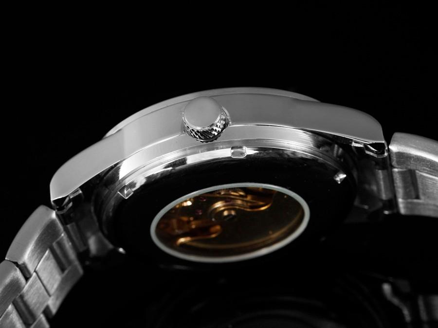 GOER марка мужская спорт Механические Наручные часы Из Нержавеющей Стали водонепроницаемый мужской Автоматический Световой Скелет цифровые Человеко часы