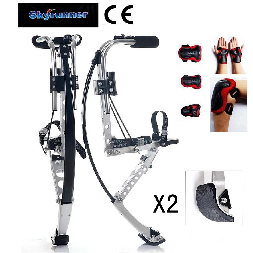 Skyrunner For Adult Kangaroo Shoes Jump Stilts Men Or Female Fitness Exercise Rebound Shoes154lb-198lb (70~90kg) Bounce shoes(China (Mainland))