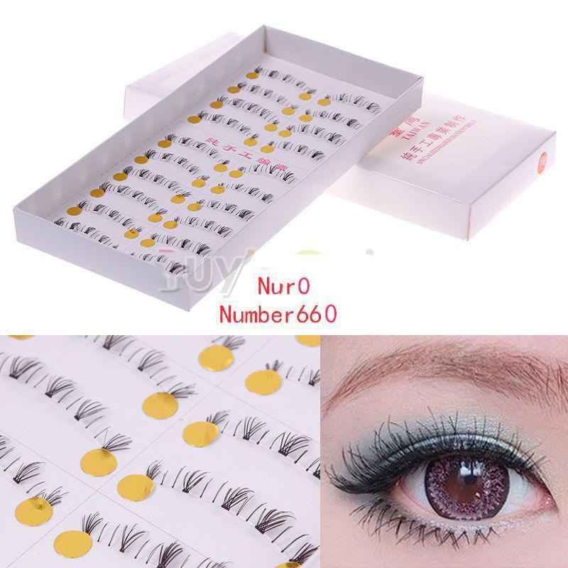 HomePlus Helpful! 10 Pairs Handmade Natural Lower Under Bottom False EyelashEye Lashes Makeup 660# Amazing!(China (Mainland))