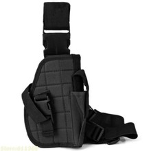 Adjustable Wrap-Around Tactical Thigh M92 Leg Pistol Gun Holster Pouch with Magazine Pocket