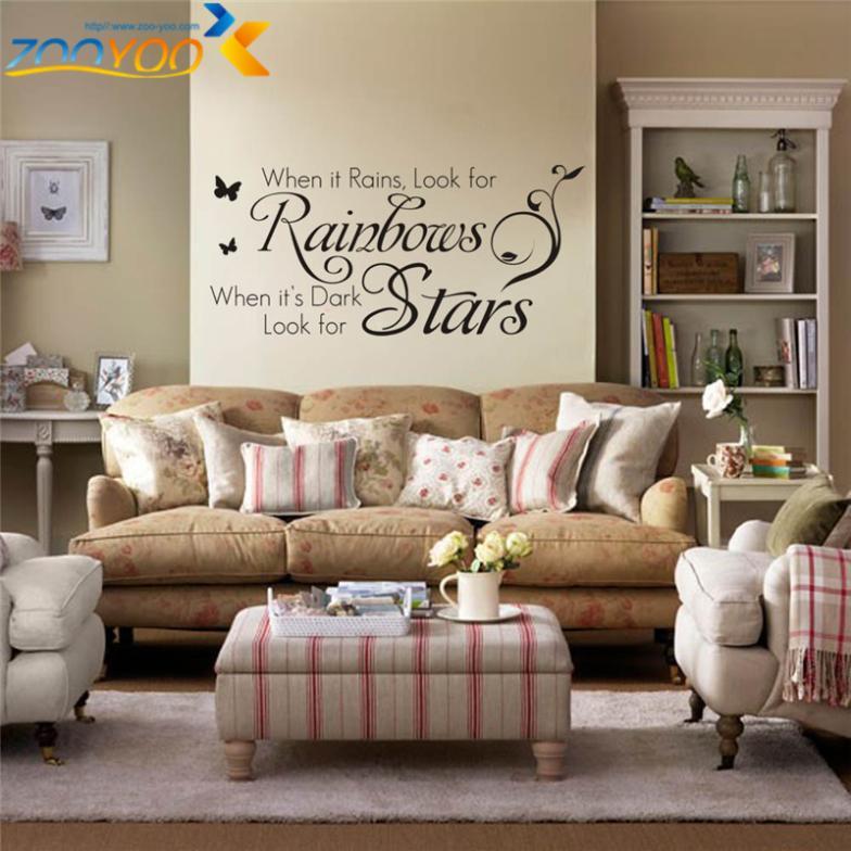 Home decoratie muur stickers citaten zooyoo8140 slaapkamer woonkamer verwijderbare vinyl kunst - Decoratie woonkamer aan de muur ...
