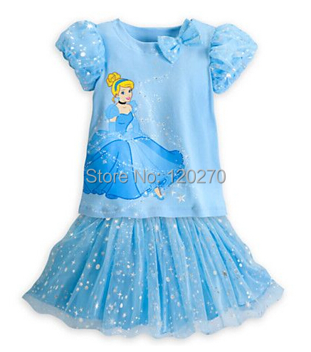 Summer Baby Girls Cinderella Princess Sequined Dress Children's Tutu Kids Bowknot One-Piece Ball Gown - Honey Baby's store