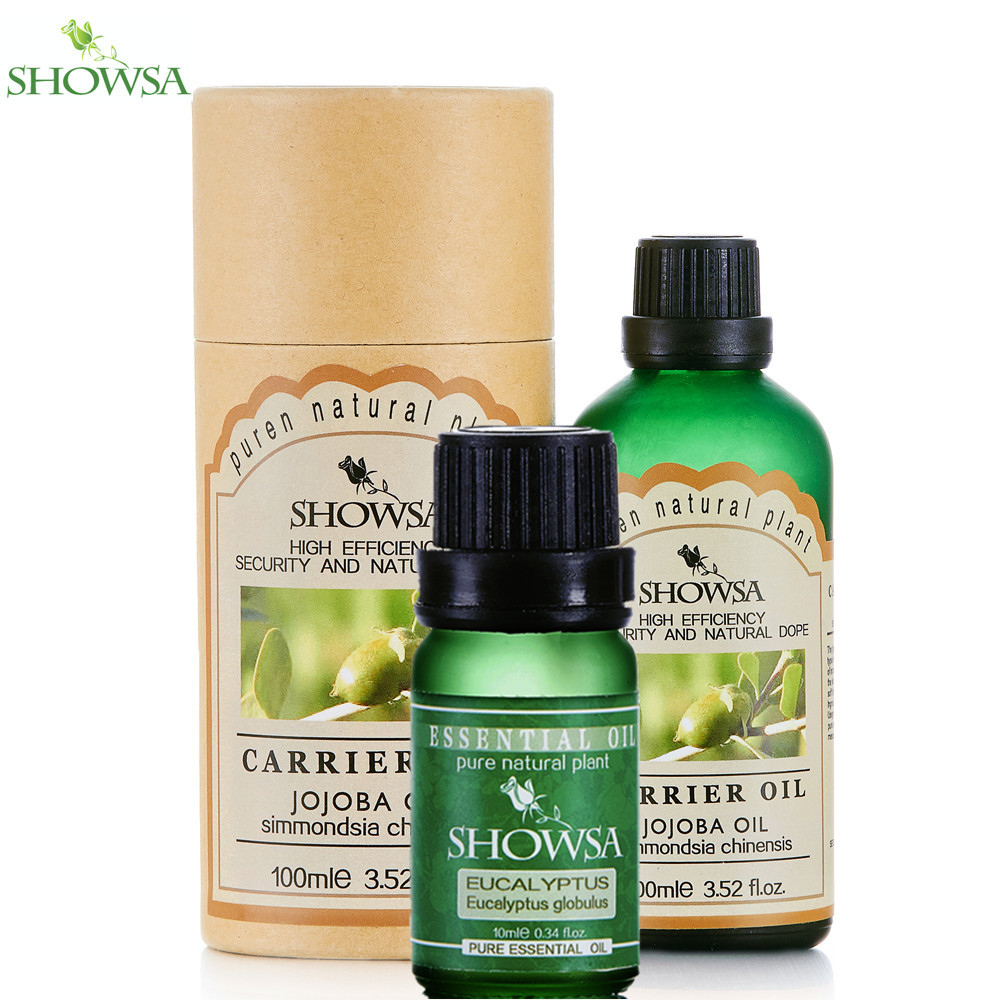 SHOWSA eucalyptus essential oil + Jojoba Base Oil Clean air, Refreshing, Clean wound Moisturize Hydrated Fade Wrinkles body oils<br><br>Aliexpress