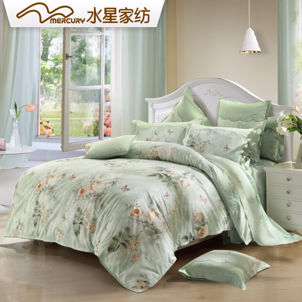 mercury home textile 100 cotton pigment printing bedding sets with 4pcs bed sheet king queen. Black Bedroom Furniture Sets. Home Design Ideas