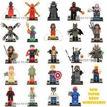 Single Sale Marvel Super Hero Minifigures Avengers Scarlet Batman Woman Building Blocks Sets Kids Toys