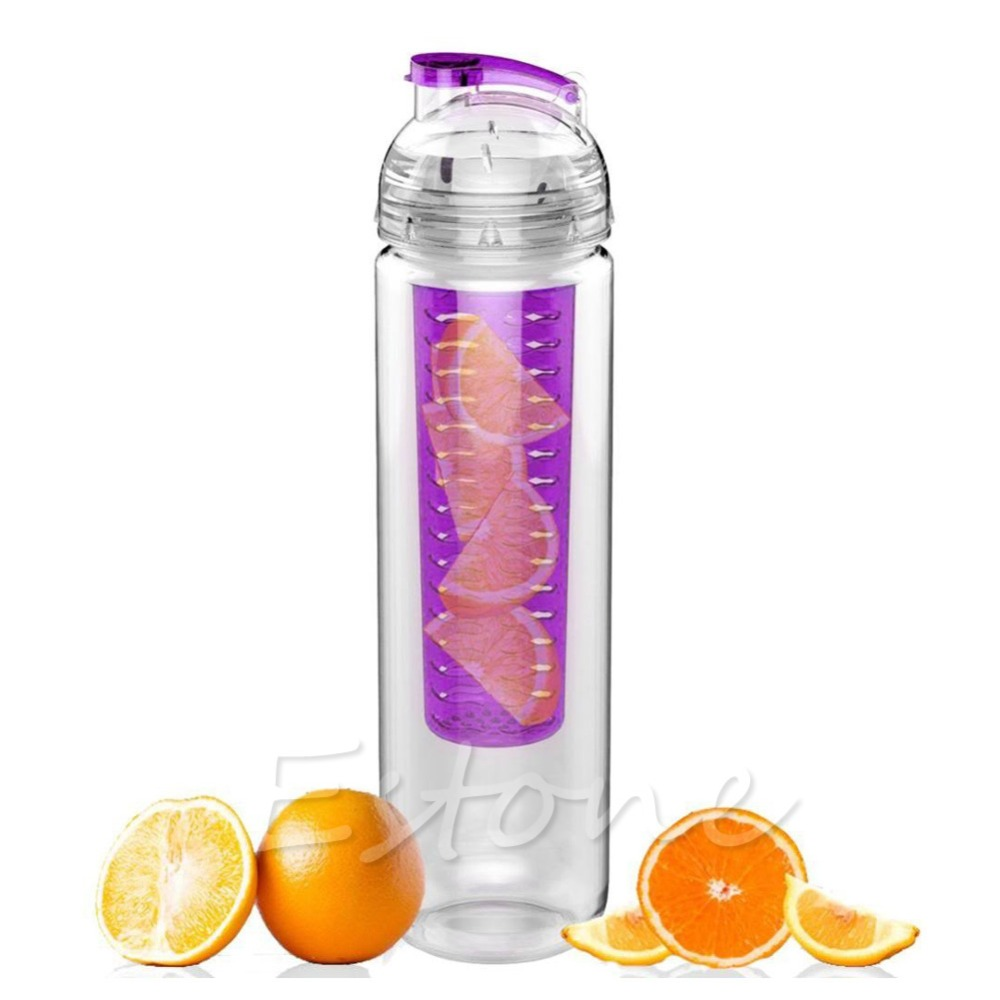 flip lid fruit lemon juice filter cup infusing infuser detox water health bottle in water. Black Bedroom Furniture Sets. Home Design Ideas