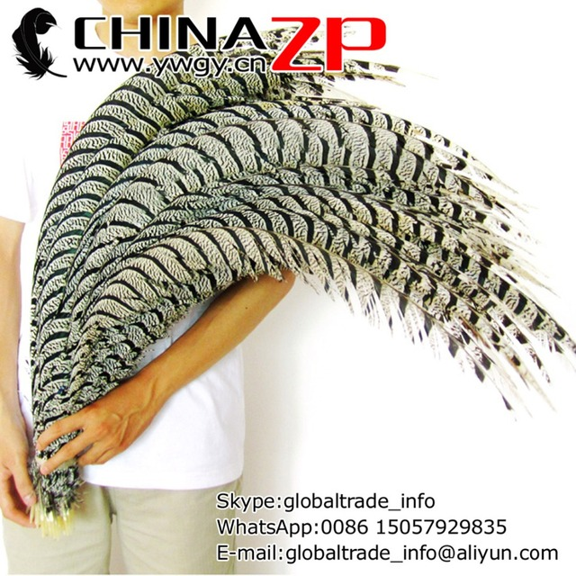 CHINAZP Factory Large Size 36-40inch(90-100cm) 50pcs/lot Unique Natural Lady Amherst Center Tail Feathers