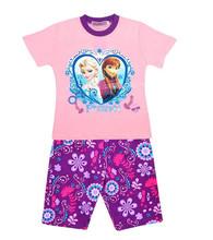 new 2016 baby girls pajamas sets children kids night clothing t shirts shorts outfits cotton free shipping