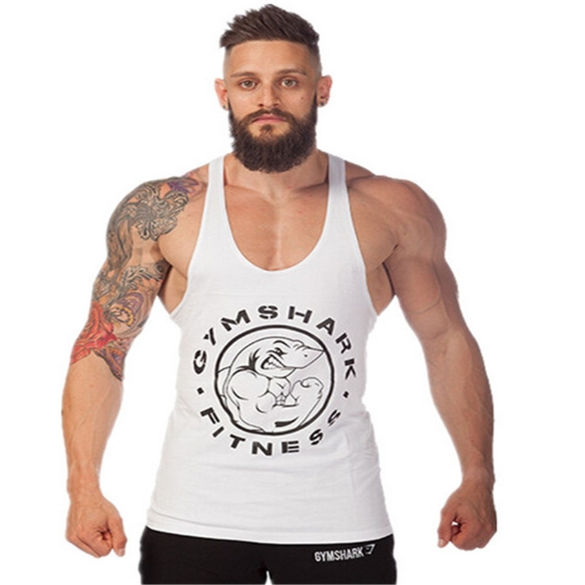 2014 cotton fitness clothes Gym bodybuilding tank top men Sleeveless sport tops Casual golds gym vest brand tracksuits men(China (Mainland))