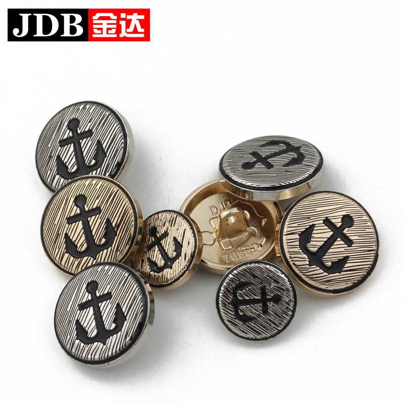 2016 Real Top Fashion Lace Eco-friendly Dry Cleaning Washable Men And Women High - Grade Suit Buttons Concave 15mm 20mm Metal(China (Mainland))