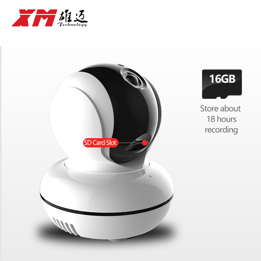 XM 960P 1.3MP HD IP Camera +16GB SD Card Wifi P2P Pan/Tilt Two Way Audio Security Home Wireless Robot Camera(China (Mainland))