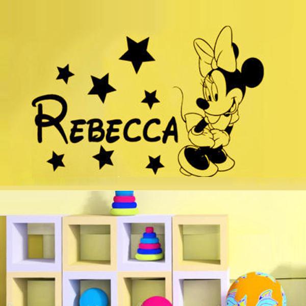 Beautiful Baby Minnie Mouse Wall Decor Motif - Wall Art Design ...