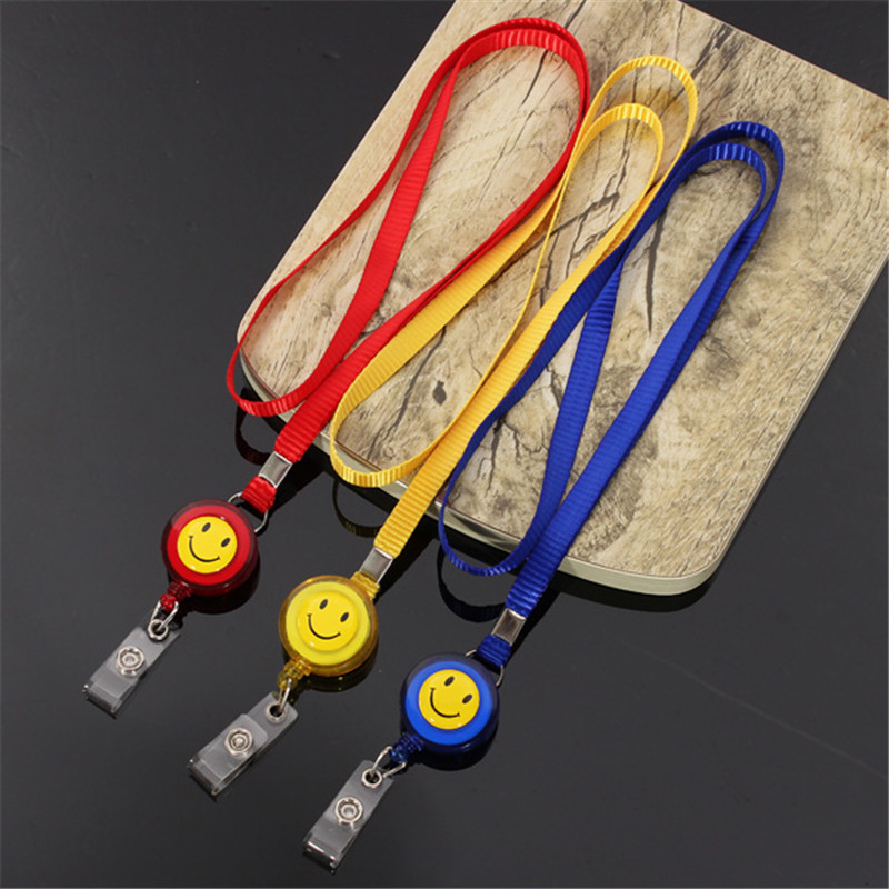 New Arrival High Quality Christmas Gift Retractable Lanyard Reel Nylon Cord Neck Lanyard strap for ID Card Key Badge Holder(China (Mainland))