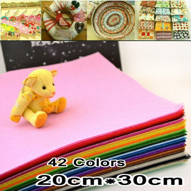42Piece 30CM*20CM/piece Polyester Nonwoven Felt Fabric, DIY Fabric Pack,1MM Thick. - Been &W Concise /EP,Element. store