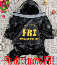 Buy Pet clothes 2014 new hot sale fashion pet clothing dogs FBI raincoat four sizes S-XL cat puppy dog clothes Perro abrigo. for $10.79 in AliExpress store
