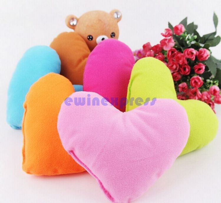 Игрушка для собак EWIN24 20 X Small Heart/shape Lovely Playing Pillow For Dog Cat Pet Puppy in Pet Supplies, Dog Supplies, Beds EH8019