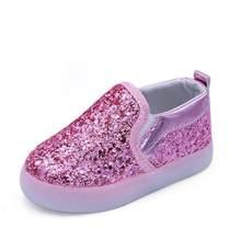 Prenses Bahar Ayakkabı çocuk Rahat LED Ayakkabı Çocuk Tutun Yumuşak Parlak Deri Ayakkabı Kızlar Parlayan moda bot(China)
