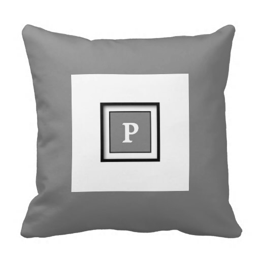 Tall Gray Framed Classy Pillow Case (Size: 20