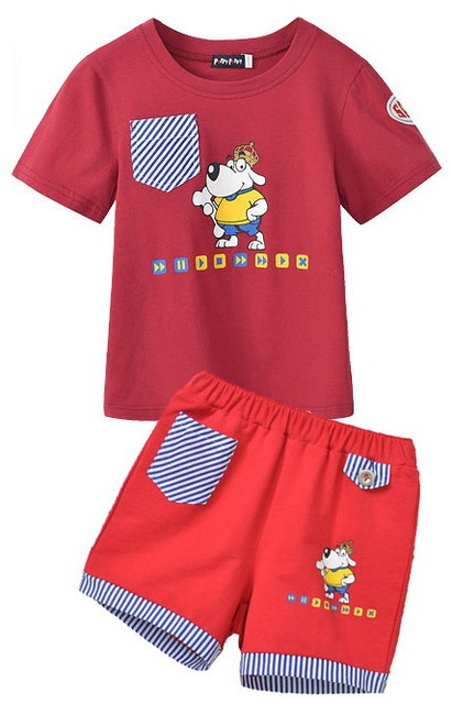 2013 Freeshipping summer red dark blue Children Child boy Kids cute short sleeve cotton sport pant pants slacks shorts PFXZ36P59