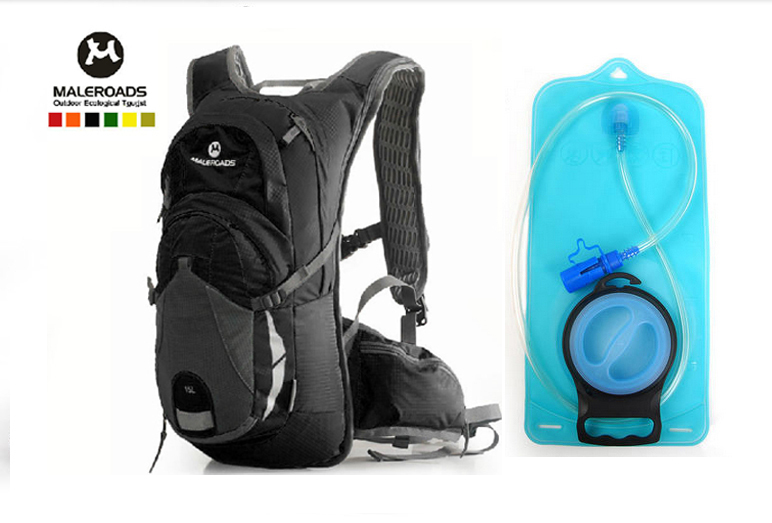 Maleroads Bicycle bag + 2L TPU Water Bags Outdoor Sport Bladder Hydration pack Bike Bag Cycling bag cycle backpack running pack(China (Mainland))