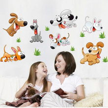 Buy Free 60*120cm hot sale removable kids room dog wall sticker home decor wall poster art decals for $7.12 in AliExpress store