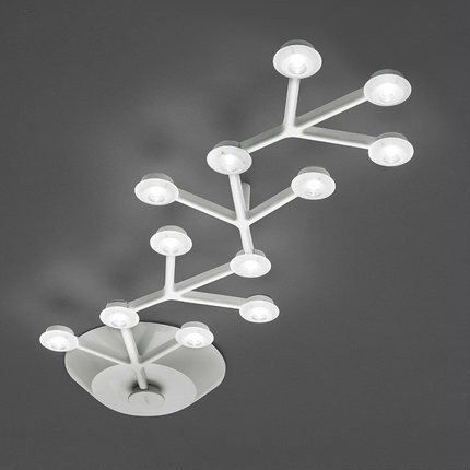 Personalized creative design office led ceiling light modern dinning table/bedroom decoration ceiling lights fixture acryl shade(China (Mainland))