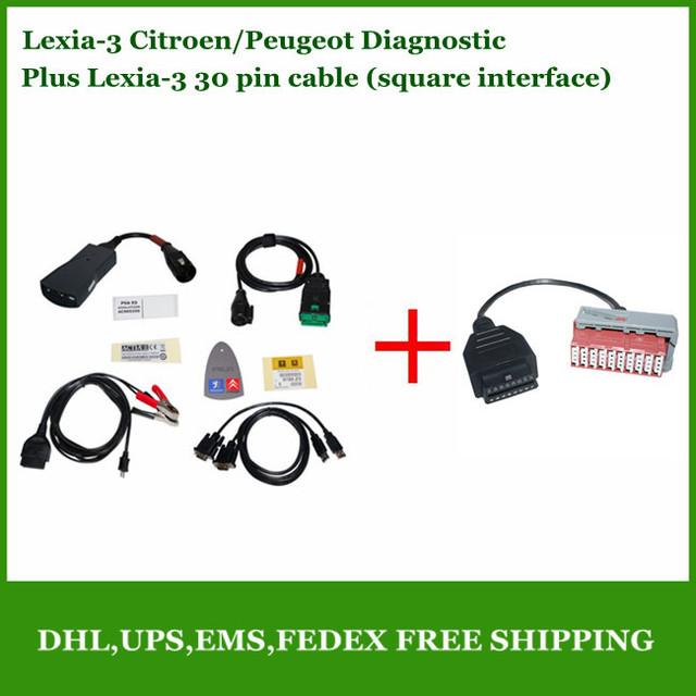 2013 a+++ Qualität lexia 3 citroen peugeot lexia3 diagnosetool pp2000 diagbox mit 30 pin