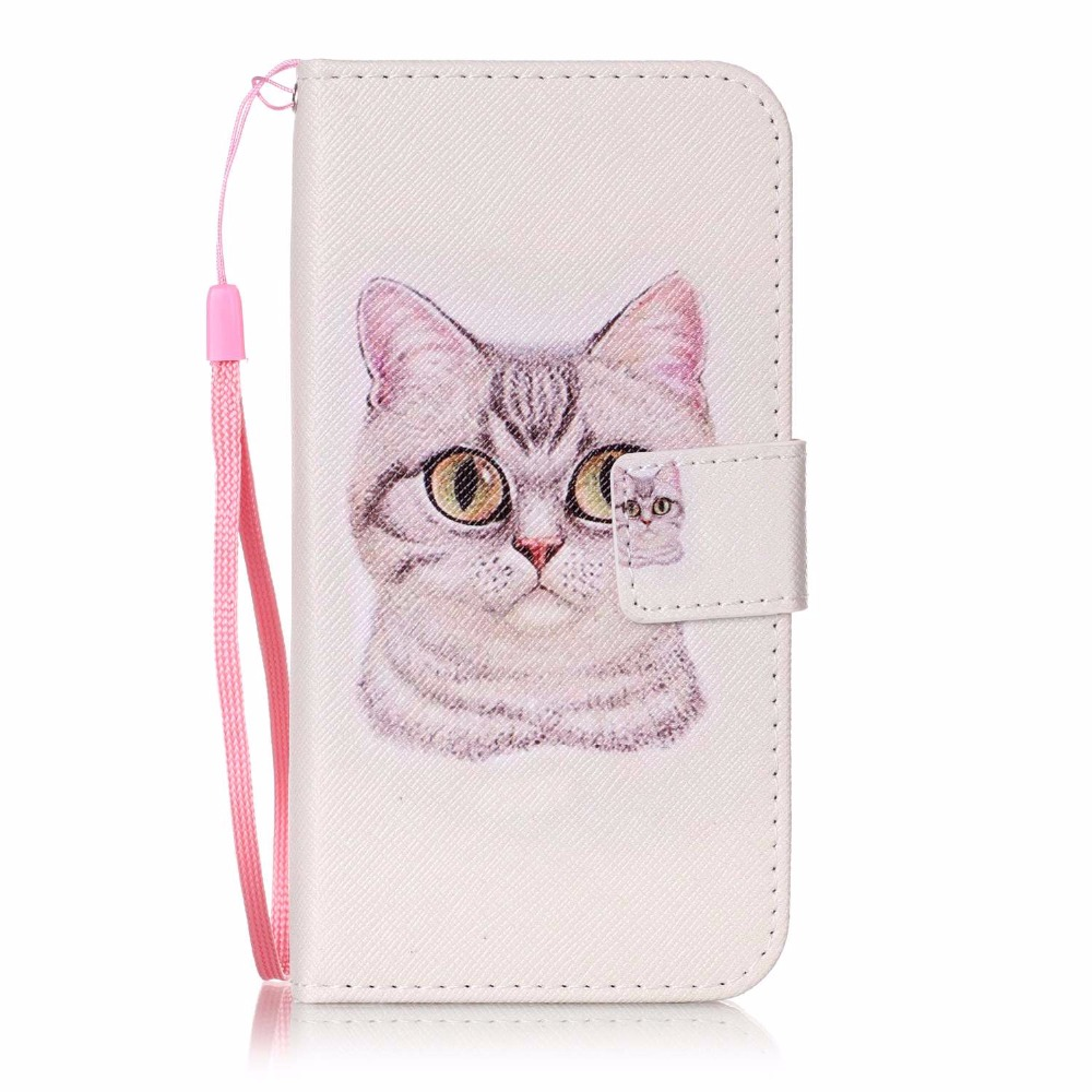 FUSHUN For Google pixel XL Painting flower cat pattern PU Leather case Flip wallet card slot holder mobile phone shell(China (Mainland))