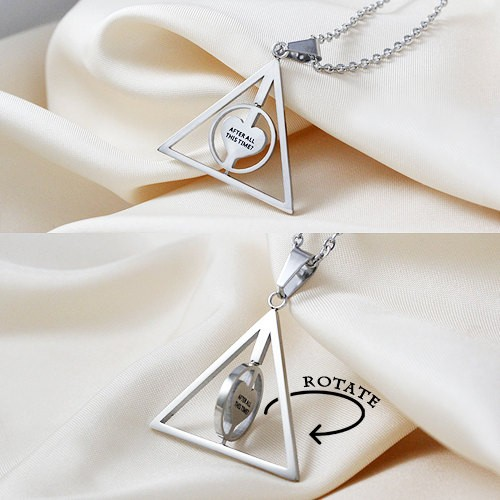 Harry Potter Deathly Hallows Rotate Pendant