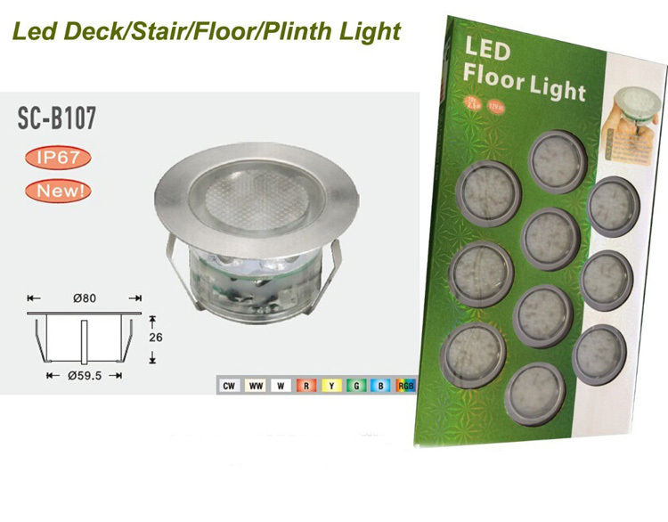 Outdoor Garden Lighting LED Deck Light 2.5W DC 12V Underground Lights Kit With 36W LED Driver(China (Mainland))