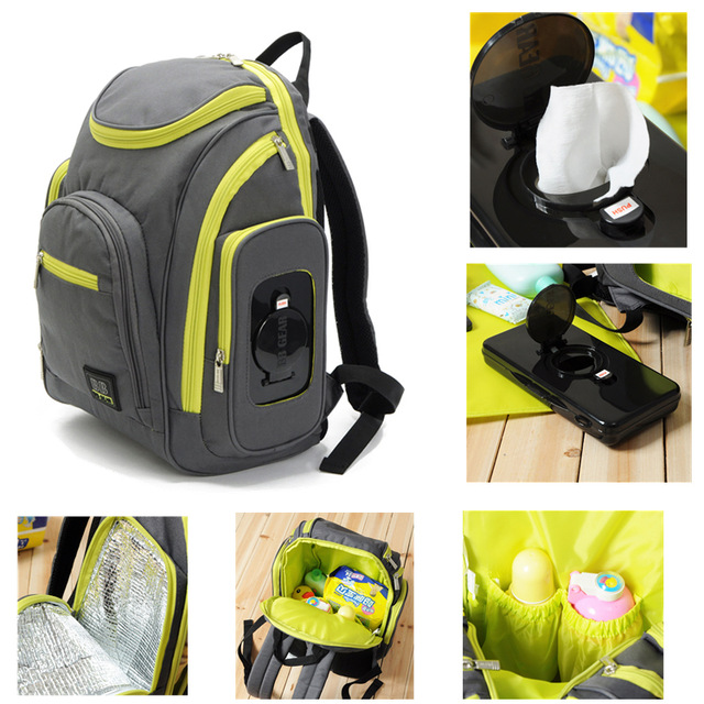 Mulityfunction diaper bag with diaper pad,backpack with large capacity,mummy bag ,campping bags for mummy Free shipping<br><br>Aliexpress