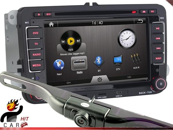Dash DVD Player GPS RDS Radio wih Camera 4 VW Skoda SHARAN SEAT LEON CUPRA CADDY<br><br>Aliexpress
